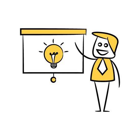 businessman and presentation idea doodle theme