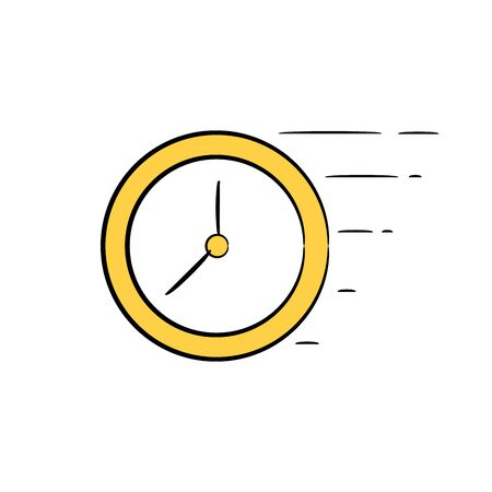 clock doodle icons
