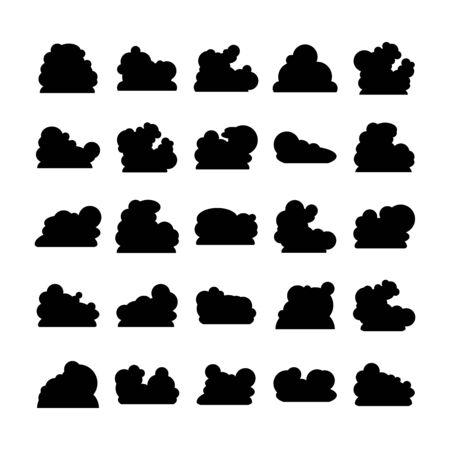 cloud bubble icons vector set
