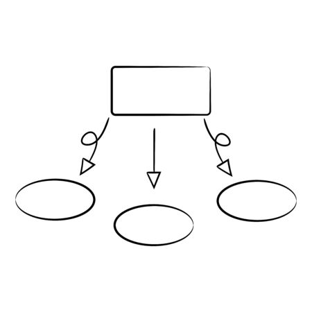 hand drawn diagram template, mind mapping for presentation