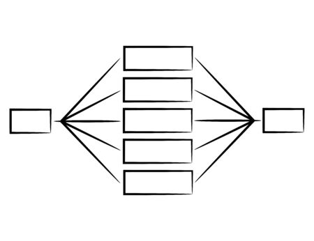 hand drawn organization chart diagram template for presentation