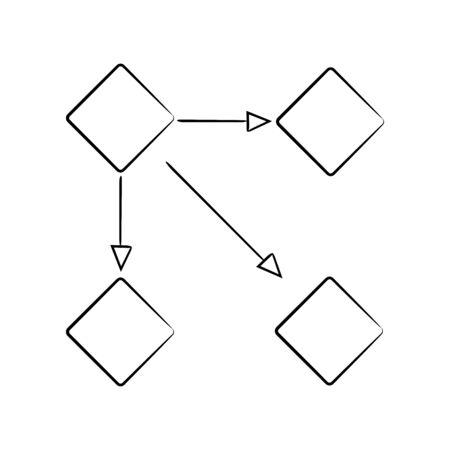 hand drawn diagram template for presentation