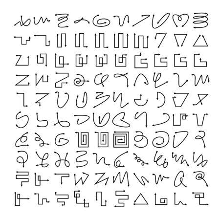 arrow bow icons vector set