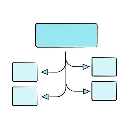 diagram template vector Vektorgrafik