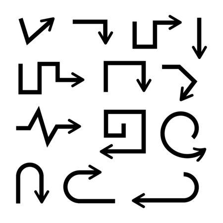 doodle arrows vector set Banco de Imagens - 133616745
