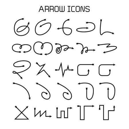 arrow and bow icons set