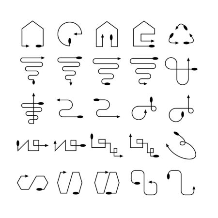arrow and line bow icons