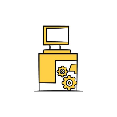automation computer and monitoring icon