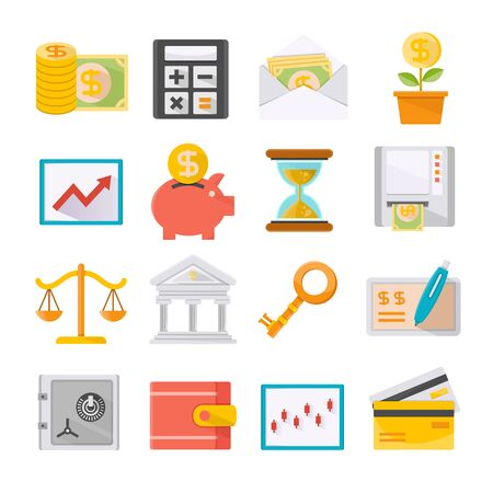 finance and investment icons set