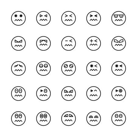 emoticon icons line circle shape Reklamní fotografie - 127953747