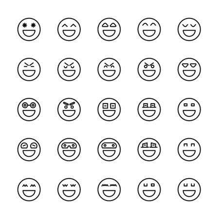 emoticon icons line circle shape Reklamní fotografie - 127953837