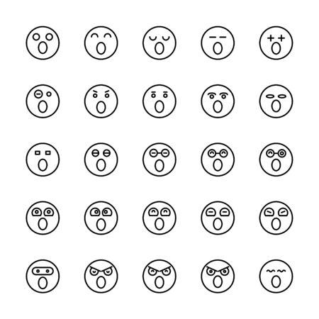 emoticon icons line circle shape Reklamní fotografie - 127953911
