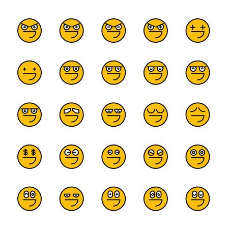 smiley emoticon icons yellow face Reklamní fotografie - 127953934