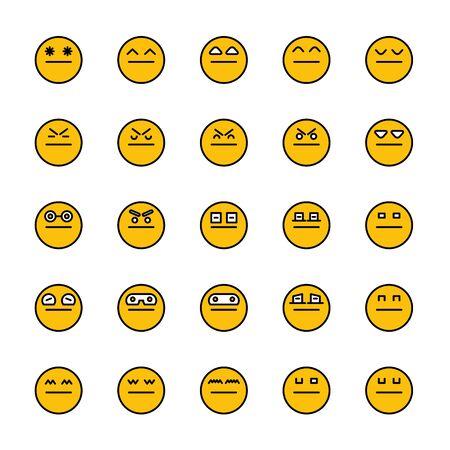 smiley emoticon icons yellow face Reklamní fotografie - 127953929