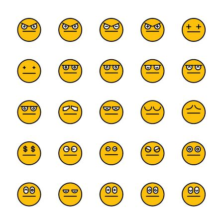 smiley emoticon icons yellow face
