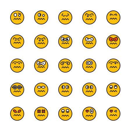 smiley emoticon icons yellow face Reklamní fotografie - 127953878