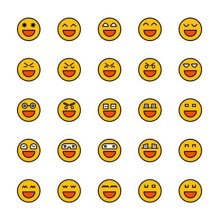 smiley emoticon icons yellow face Reklamní fotografie - 127953874