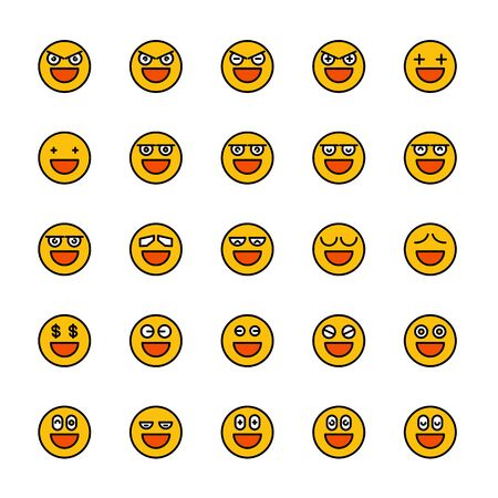 smiley emoticon icons yellow face Reklamní fotografie - 127953877
