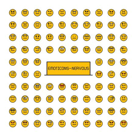 yellow face emoticon icons