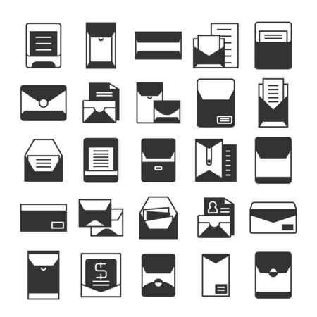 email, mail, envelope and newsletter icons set