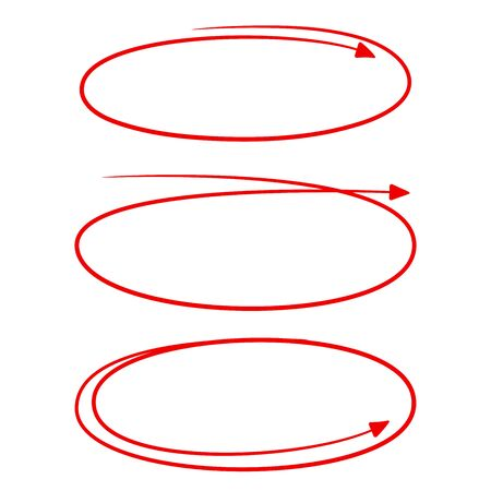 hand drawn  circle arrow for mark and highlight text 版權商用圖片 - 133453640
