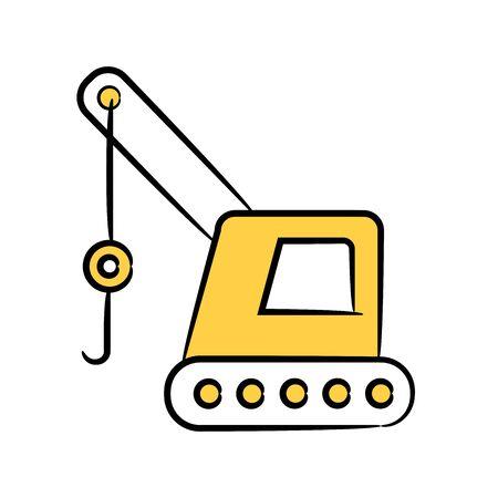 hoist truck yellow color design theme Stock Illustratie