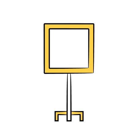 white board icon yellow color theme