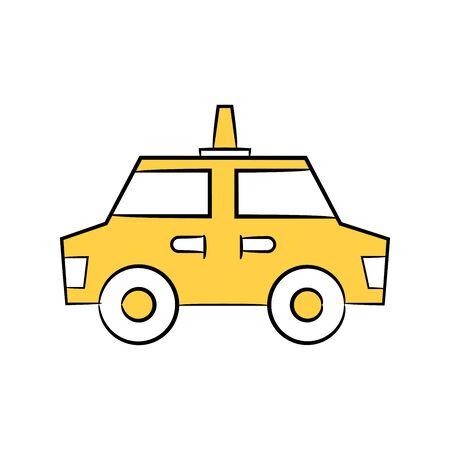 taxi icon in yellow theme