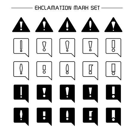 exclamation mark symbol and error set