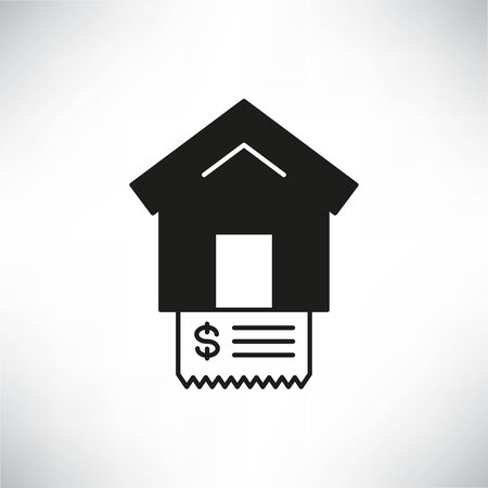 house and bill icon for home expense concept