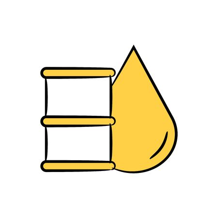 oil drop and barrel yellow doodle theme