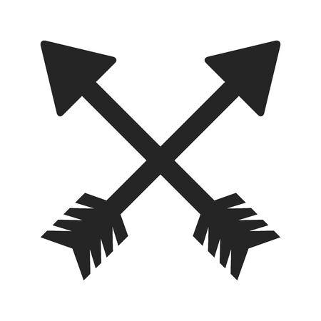 cross arrows or bows symbol