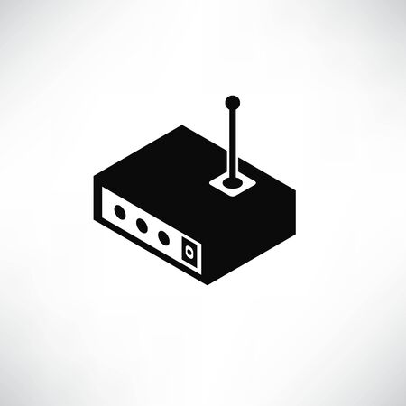 router icon solid isometric design
