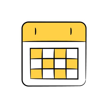 calendar and time table icon yellow doodle theme
