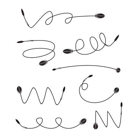 arrows and bows vector set