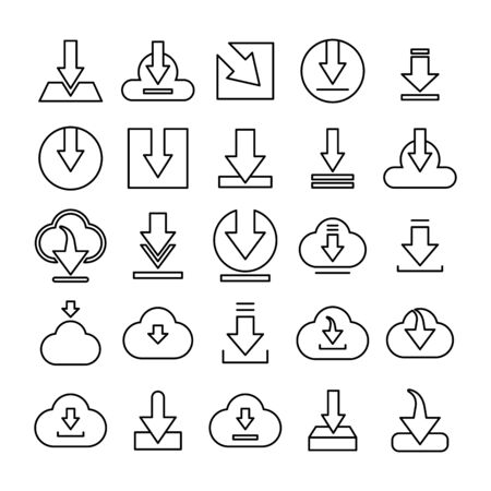 download and save line icons Çizim