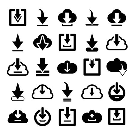 download, update and save icons set Çizim