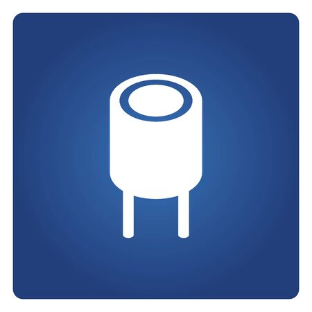 resistor icon solid isometric design on blue background Vettoriali