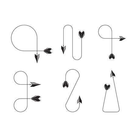arrows vector illustration set