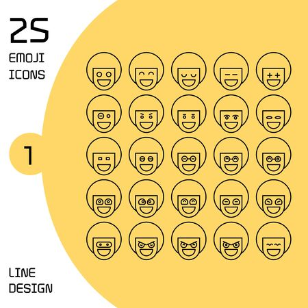 boy profile avatar emoticons set line theme