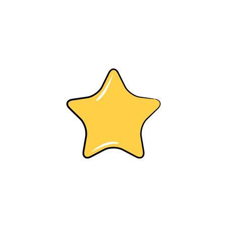 yellow magic star icon illustration
