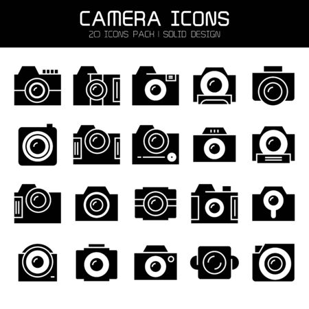 action camera and video camera icons set