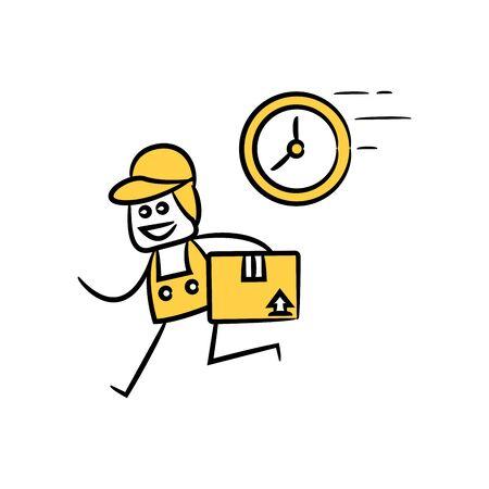 service man, delivery man stick figure theme