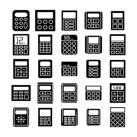 calculator icons vector illustration set