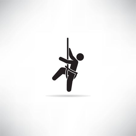 mountain climber icon vector illustration