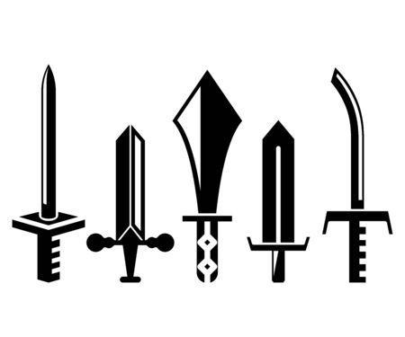 sword and rapier vector illustration