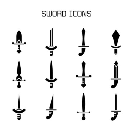sword and rapier icons set