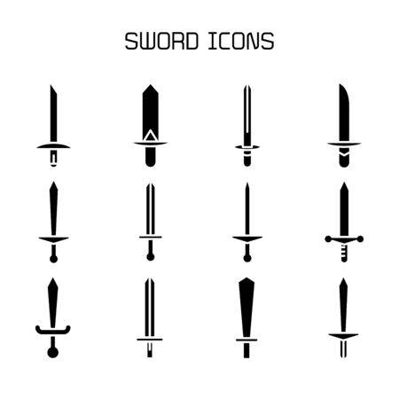 sword and rapier icons set