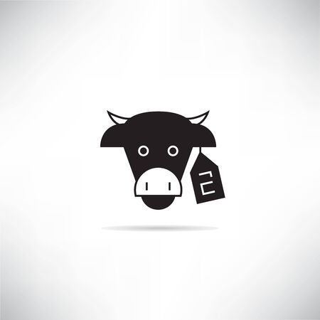 cow livestock and tag number for smart agriculture concept