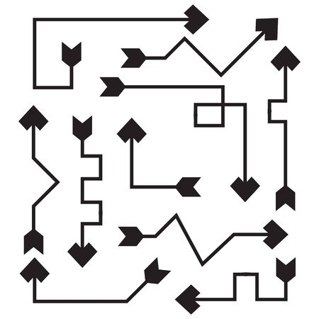 arrow bow line vector set Vectores